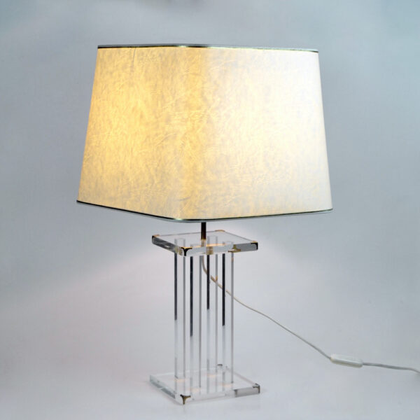 divine style french antiques 1970s perspex table lamp Lange 5