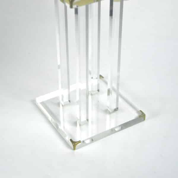 divine style french antiques 1970s perspex table lamp Lange 4