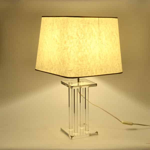 divine style french antiques 1970s perspex table lamp Lange