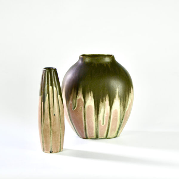2 Gilbert Metenier Art Deco vases divine style french antiques 1