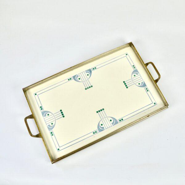 divine style french antiques art nouveau tray c1900 porcelain villeroy et boch 1