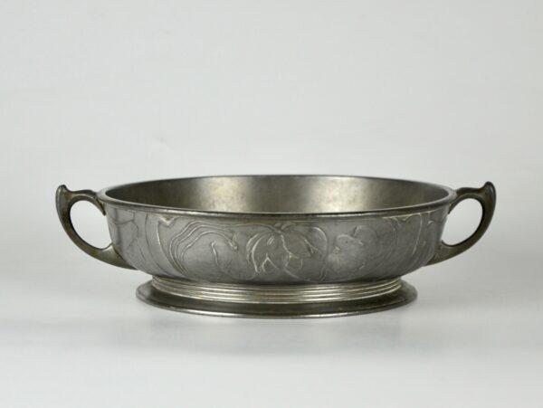 divine style french antiques orivit art nouveau pewter bowl 1900 1