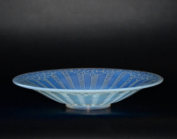 french antiques etling art deco opalescent glass coupe 251