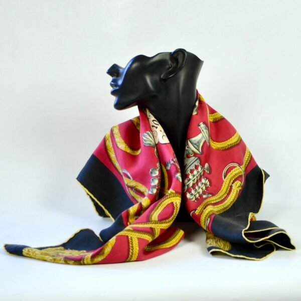 divine style french antiques Hermès silk scarf Palefroi 1965 2