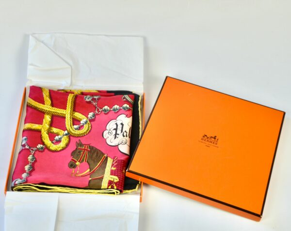 divine style french antiques Hermès silk scarf Palefroi 1965 1