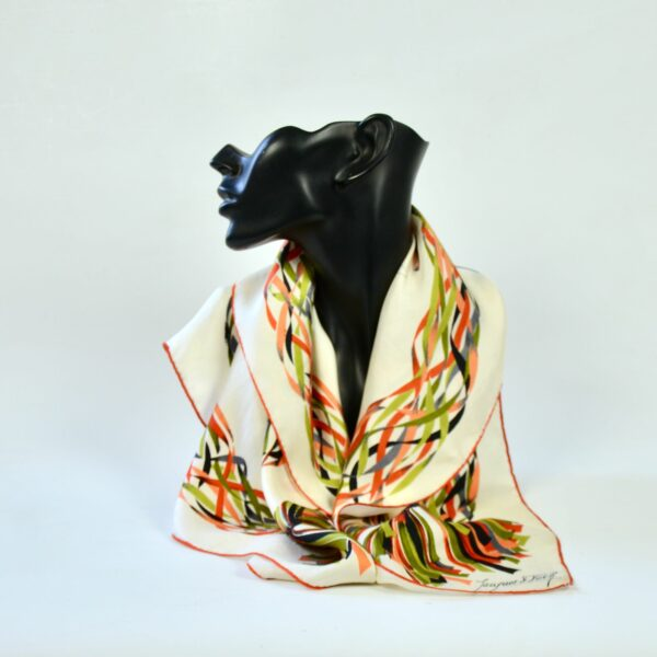 divine style french antiques rare Jacques Fath silk scarf