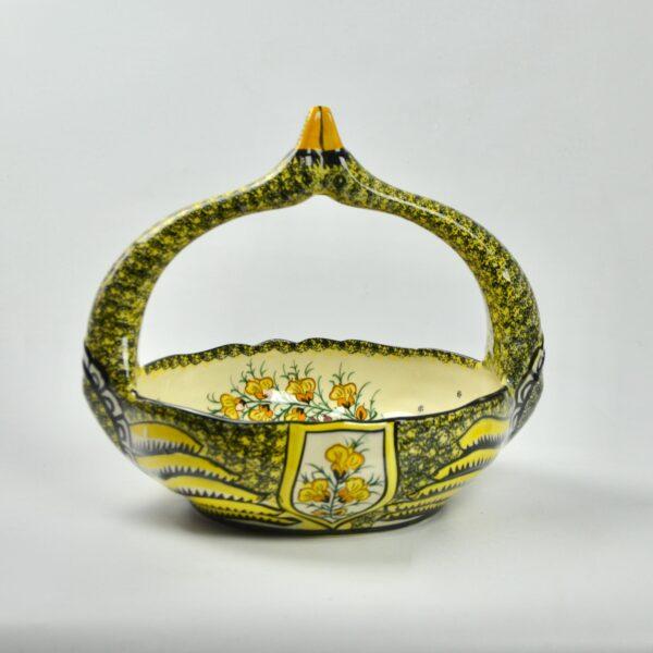 divine style french antiques large Henriot Quimper swan basket