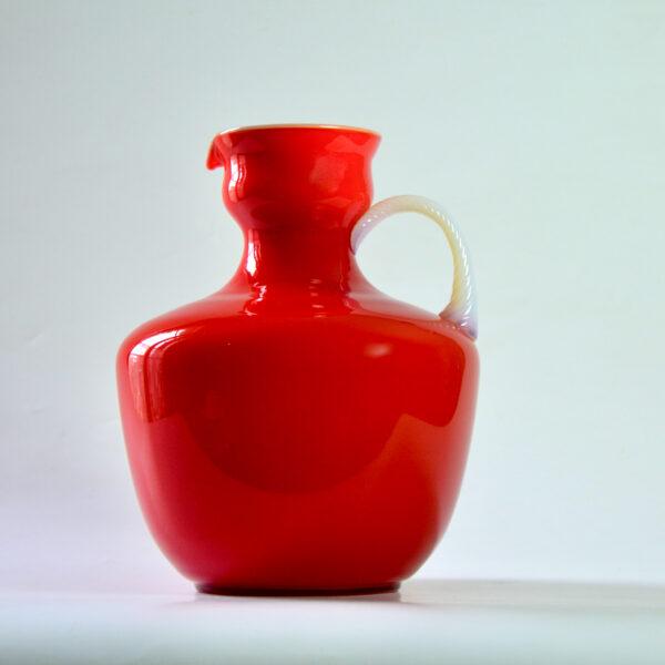 divine style french antiques carlo moretti murano red cased glass jug mid century 4