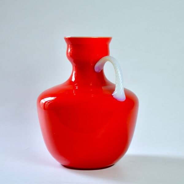 divine style french antiques carlo moretti murano red cased glass jug mid century 2