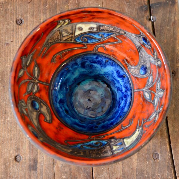 divine style french antiques mid century Italian pottery bowl 2