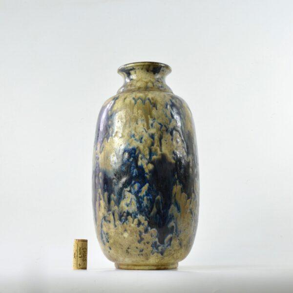 divine style french antiques fernand carpent Bouffioulx art deco stoneware vase 4