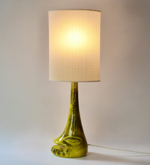 Mid century anthropomorphic studio pottery table lamp divine style french antiques 4