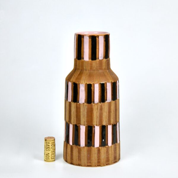 fratelli fanciullacci vase 1950s sgraffito divine style french antiques 1