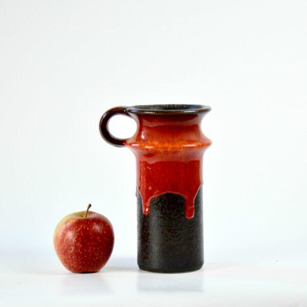 Jasba drip glaze vase 1221 19 divine style french antiques