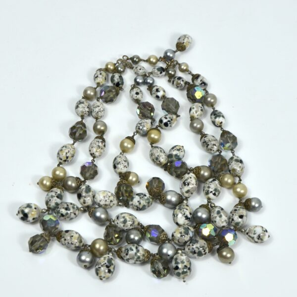 1950s cascade necklace Bohemian glass divine style french antiques 2