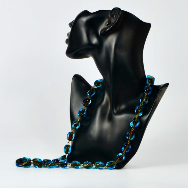 1950s-Murano-sommerso-bead necklace divine style french antiques