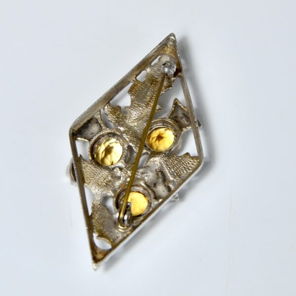 scottish silver thistle brooch citrine divine style french antiques 2