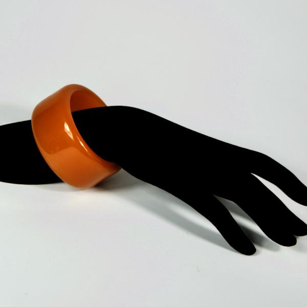 Thick bakelite bangle extra wide shape french art deco 1930s bakelite bracelet