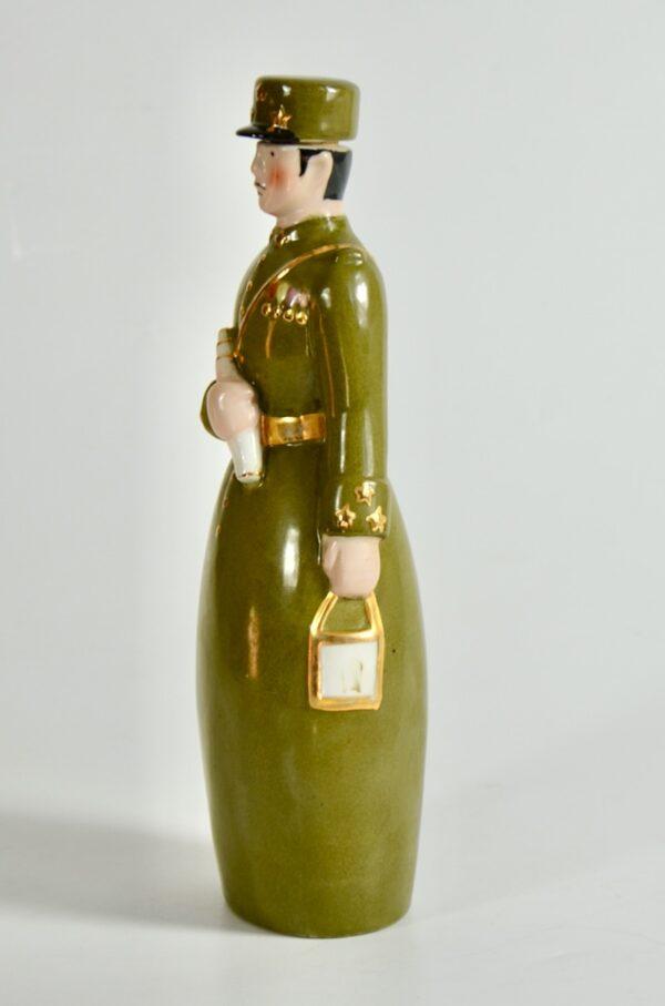 Robj Paris liquor bottle art deco brigadier general french ceramics 3