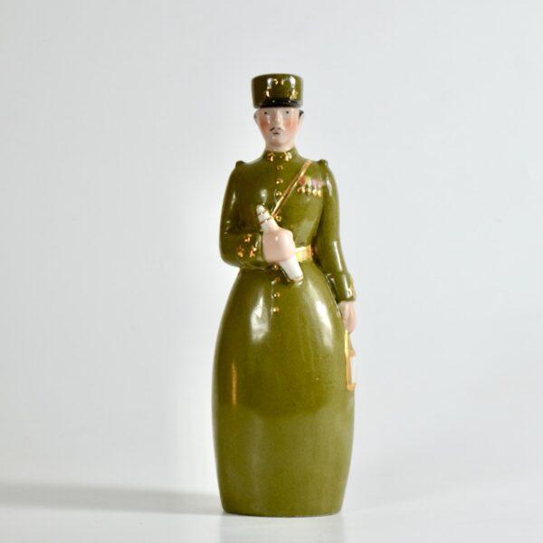 Robj Paris liquor bottle art deco brigadier general french ceramics