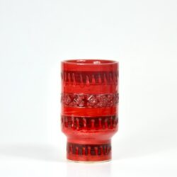 Italian Bitossi modernist red vase divine style french antiques 2