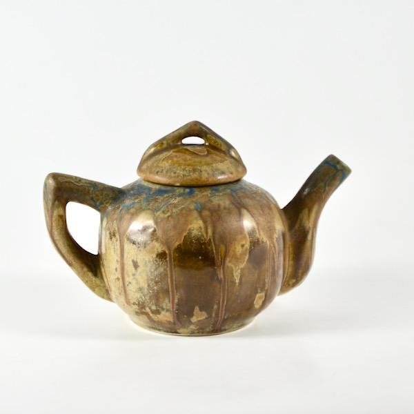 gilbert metenier teapot art deco stoneware divine style french antiques 1