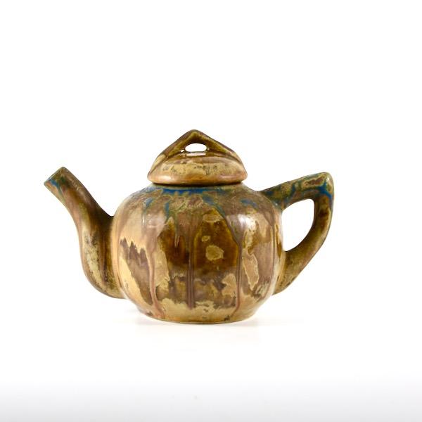 gilbert metenier teapot art deco stoneware divine style french antiques