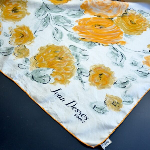 jean desses silk scarf 1950s divine style french antiques 3