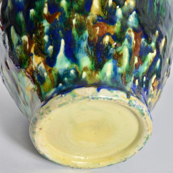 Antique chevrette gargoulette marbled slipware divine style french antiques 3