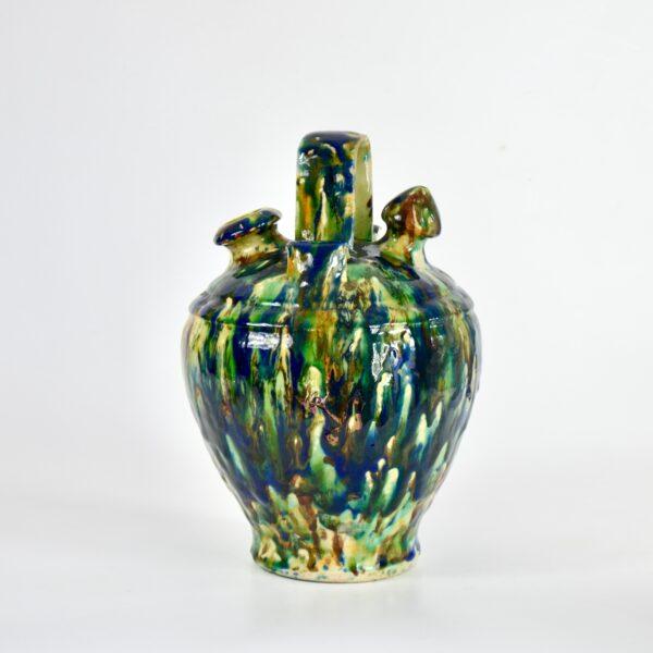 Antique chevrette gargoulette marbled slipware divine style french antiques