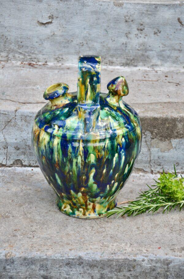 Antique chevrette gargoulette marbled slipware divine style french antiques 4