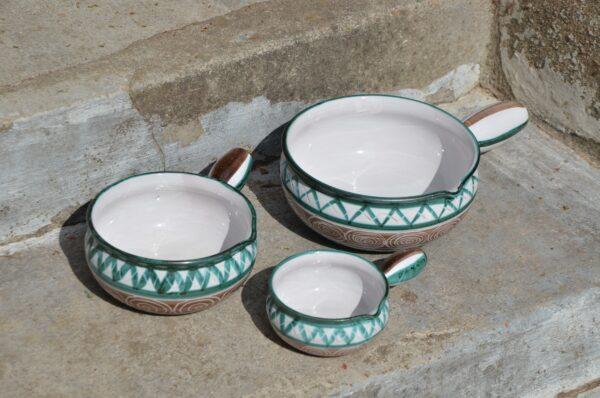 robert picault saucepans mid century 1950s vallauris pottery 1