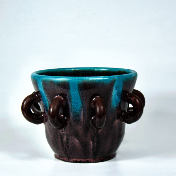 Accolay French ceramic planter mid century modern 1960s 1
