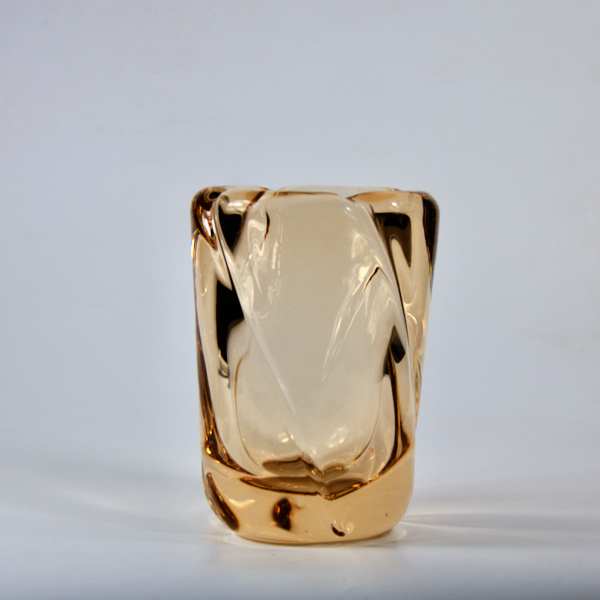 Daum Nancy large crystal vase mid century modern 1950s french glass 1