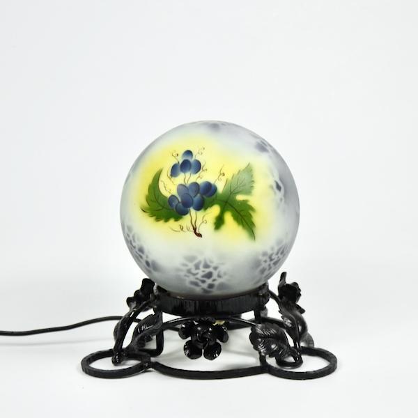 Art Deco enamelled glass night-light, globe lamp 2
