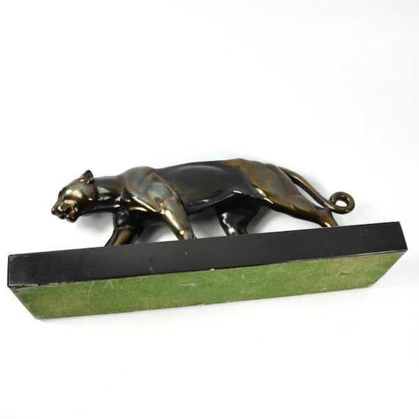 Art Deco panther sculpture Louis Albert Carvin Animal Sculpture French Art Deco 1930 4