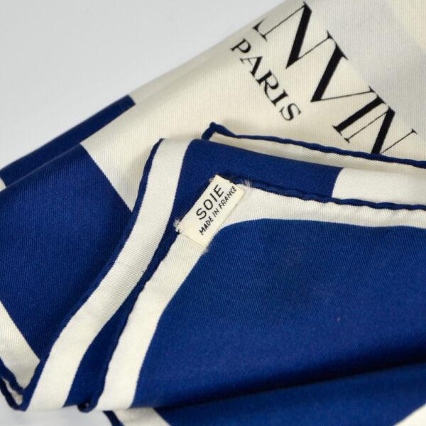 Lanvin silk scarf vintage 1980s french designer silk scarf couture '