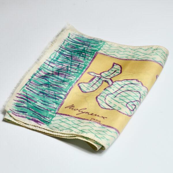 Molyneux silk scarf 1970s vintage french designer scarf 1
