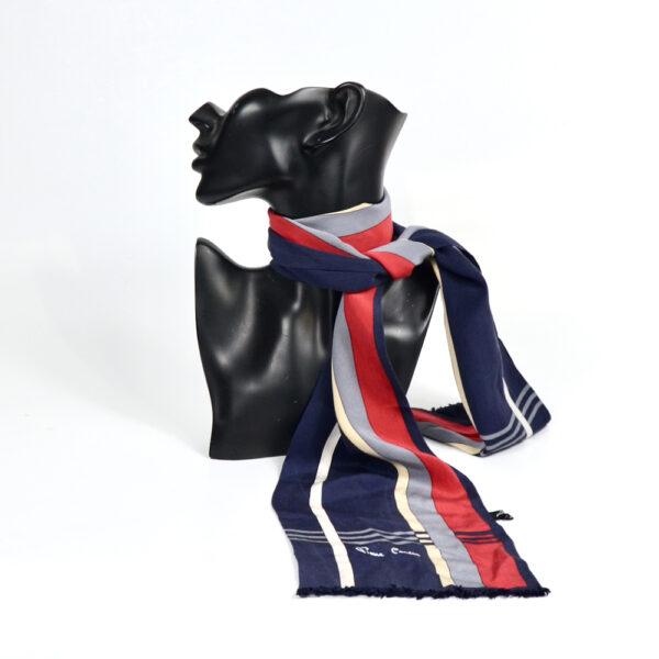 Pierre Cardin long silk scarf vintage french designer scarf 1960s