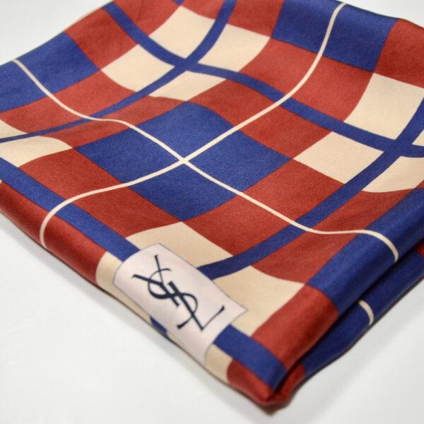 Yves Saint Laurent vintage silk scarf 1970s YSL French designer silk scarf 4