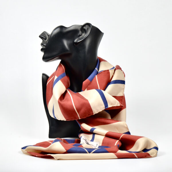 Yves Saint Laurent vintage silk scarf 1970s YSL French designer silk scarf 5