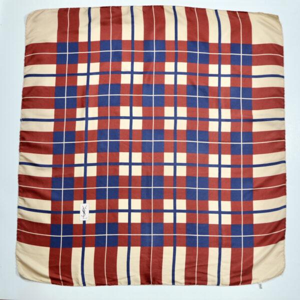 Yves Saint Laurent vintage silk scarf 1970s YSL French designer silk scarf