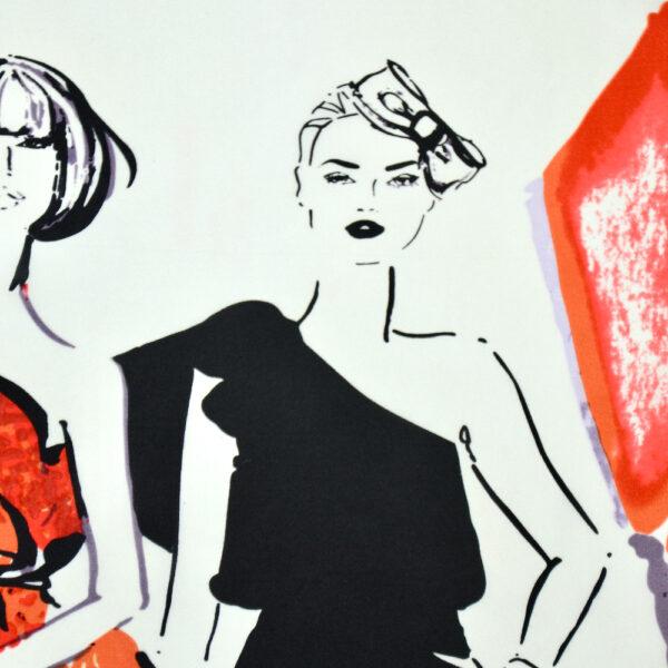 vintage 1980s fashion paris silk scarf picture scarf models 2