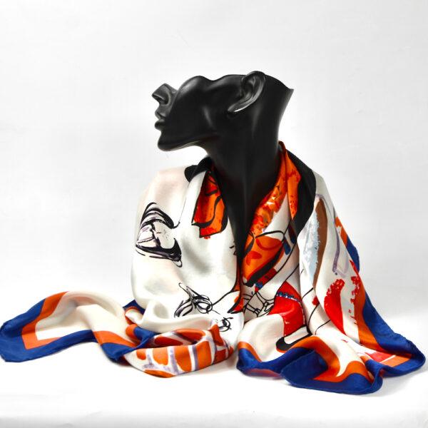 vintage 1980s fashion paris silk scarf picture scarf models 4