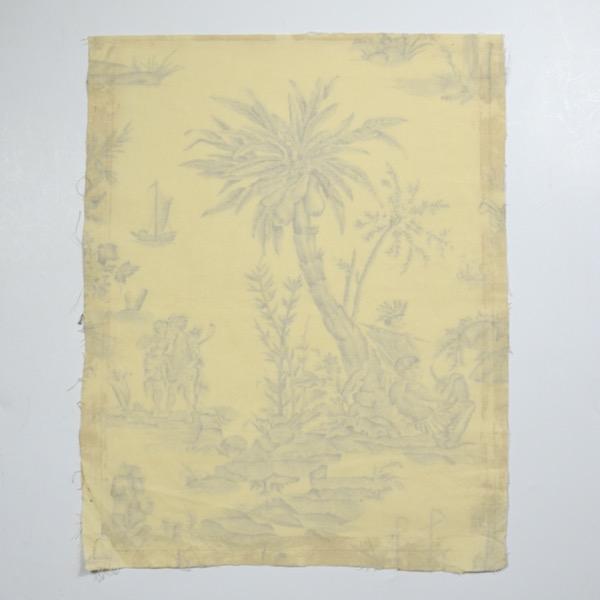 18th century Toile de Jouy Homage de l'Amérique à la France antique French textile panel 1783 5