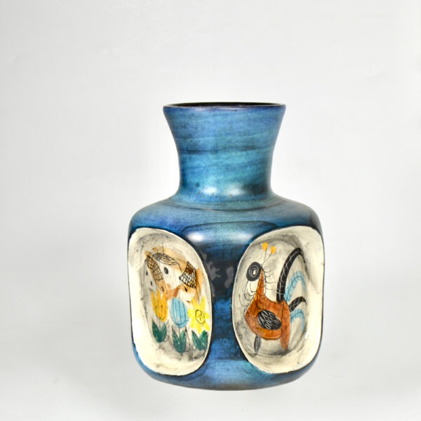 jean de lespinasse 4 sided vase mid century french ceramic 1950s 1960s pottery 2
