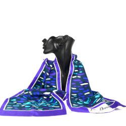 jean dessès french designer silk scarf 1960s paris couture purple green 2
