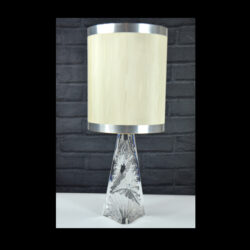 Daum France lamp 1960s ice crystal modernist mid century design light