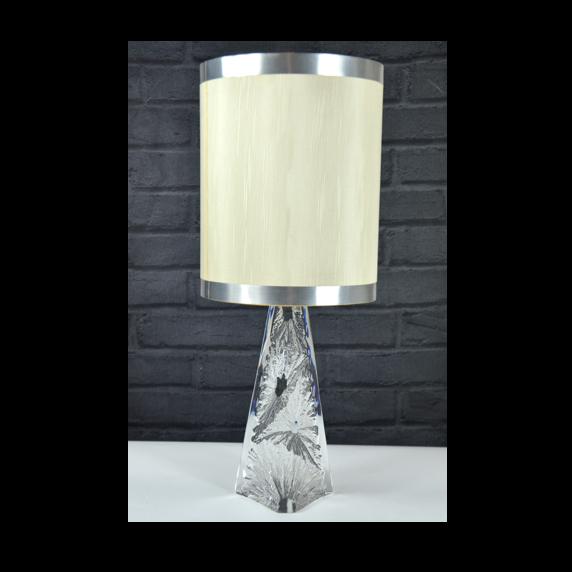 Daum France lamp 1960s ice crystal modernist mid century design light