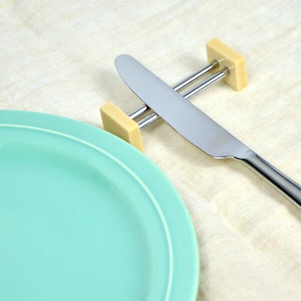 art deco chrome and bakelite knife rests chopstick rests boxed set of 12 1930